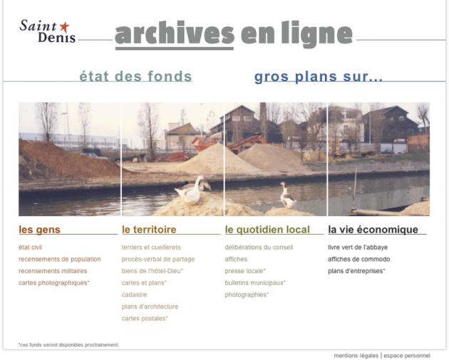 Les archives de la ville de saint denis sont en ligne - Mairie de guilherand granges etat civil ...