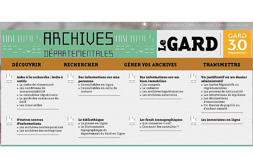 Archives du Gard : les premiers registres d'état civil sont en ligne