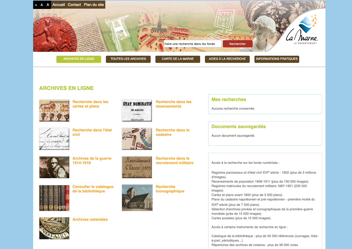 Extension du domaine des recensements de la Marne
