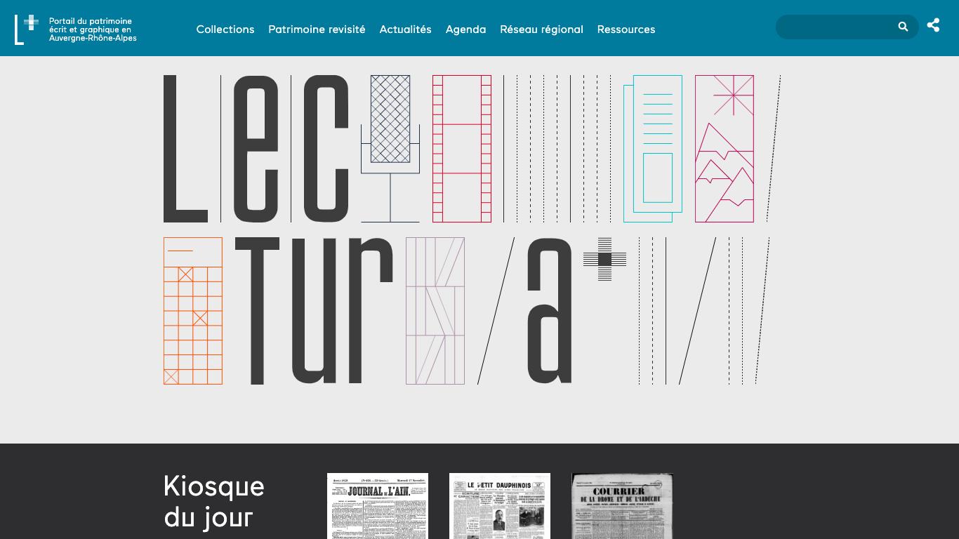 Lectura Plus, la presse ancienne en ligne d'Auvergne-Rhône-Alpes