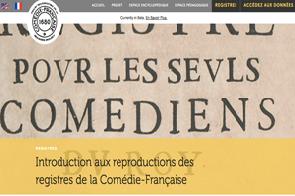 Comedie Francaise Calendrier.Les Registres De La Comedie Francaise Sont En Ligne