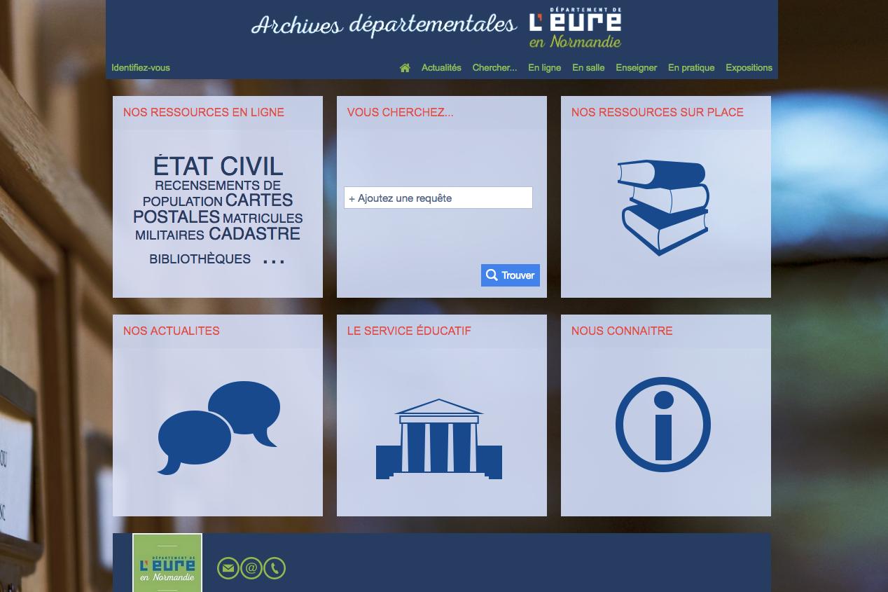 Nouveau site Web et état civil jusqu en 1916 aux archives de l Eure 6812716dd645