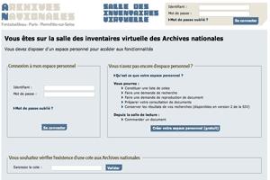 ouverture de la salle des inventaires virtuelle des archives nationales