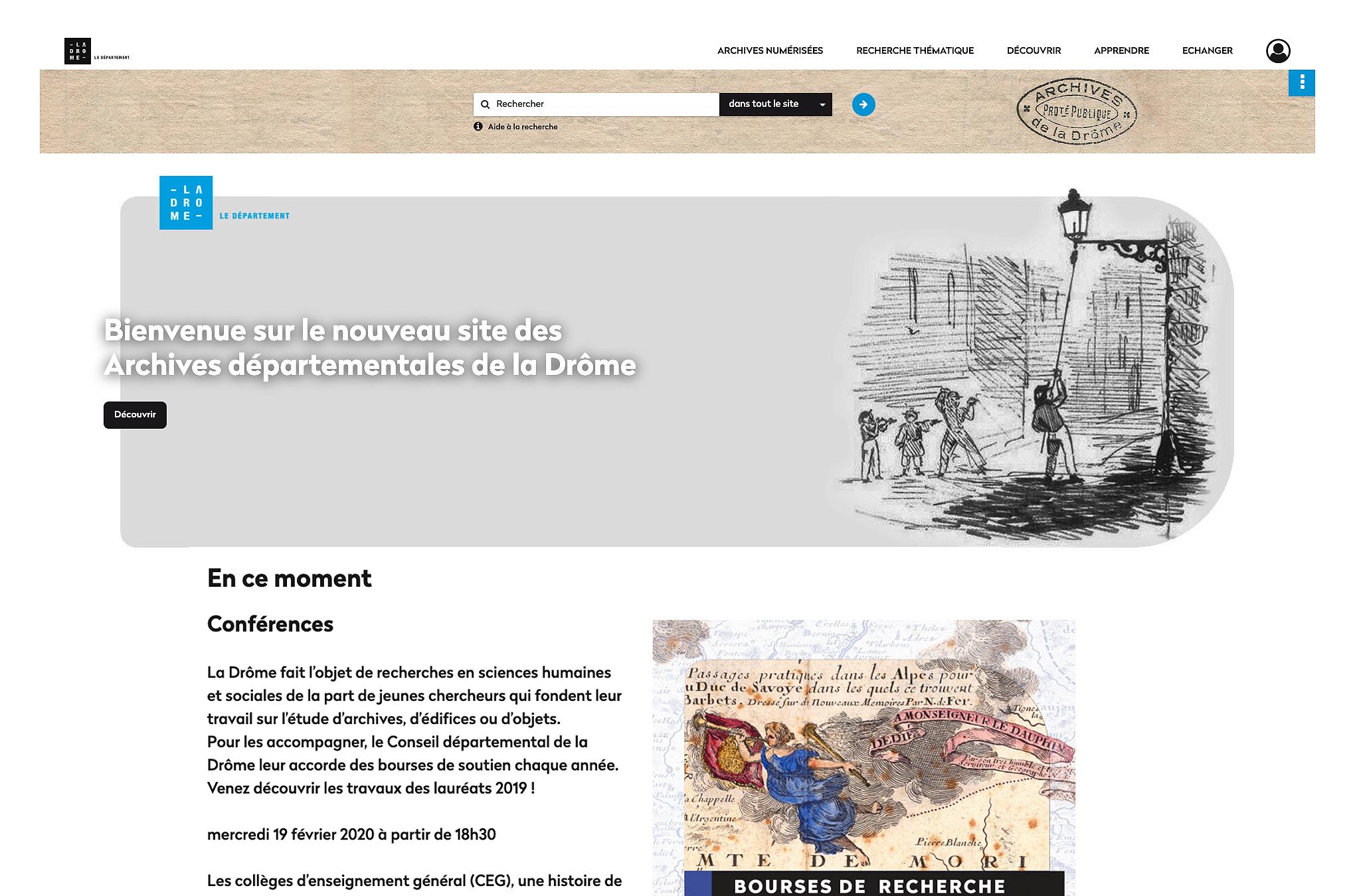 Ouverture du nouveau site des archives de la Drôme