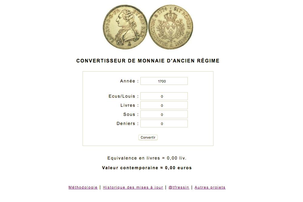 Le Convertisseur De Monnaie D Ancien Regime Est Sorti