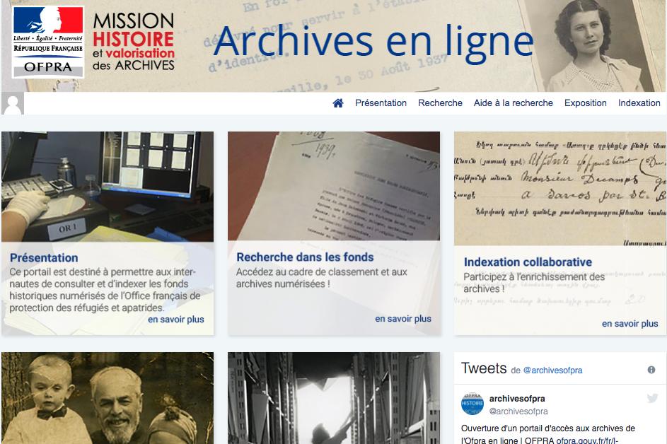 Un nouveau portail d 39 archives en ligne pour l 39 ofpra - Office francais de protection des refugies et apatrides ...