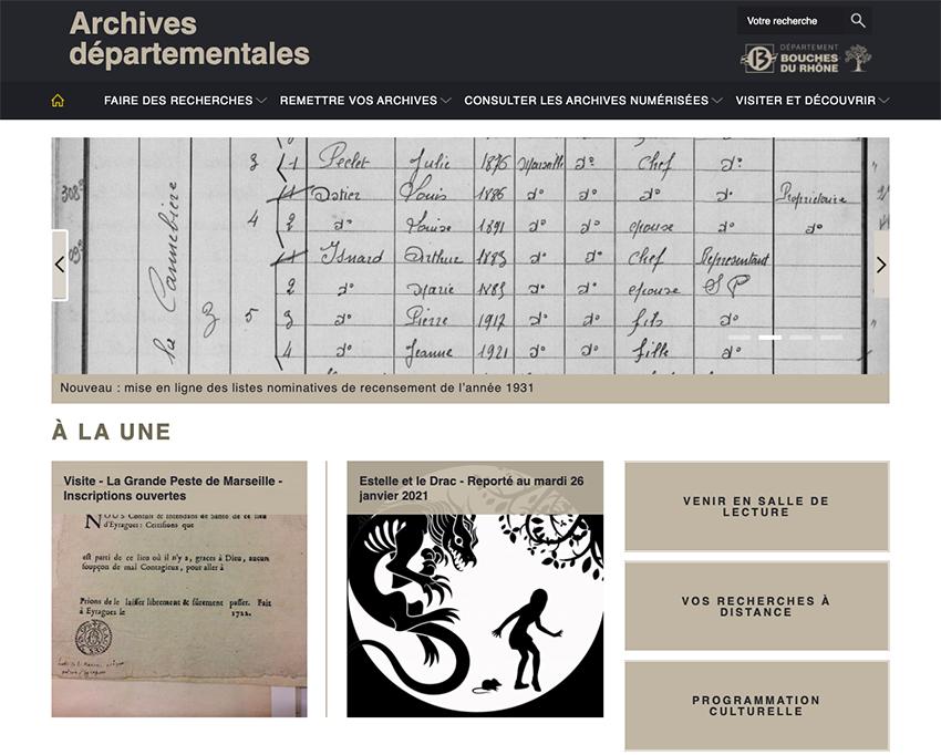 Bouches-du-Rhône : le recensement de 1931 est en ligne