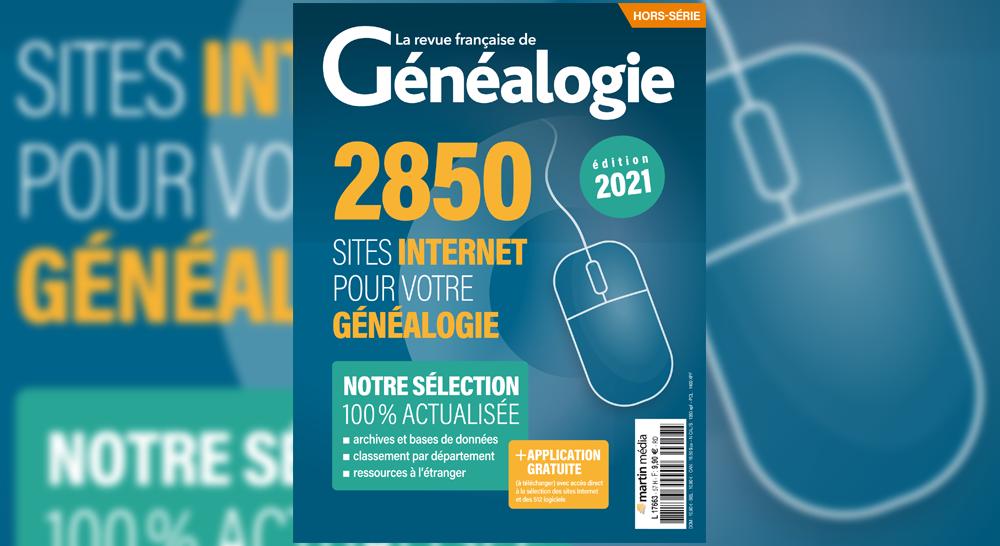 Parution de la sélection 2021 des sites Internet pour votre généalogie