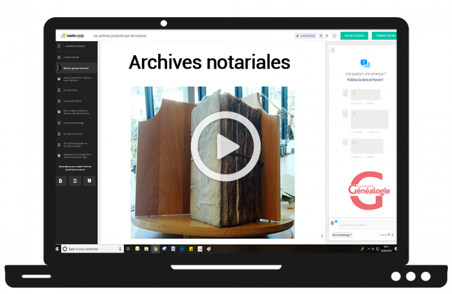 Formation en ligne Archives notariales