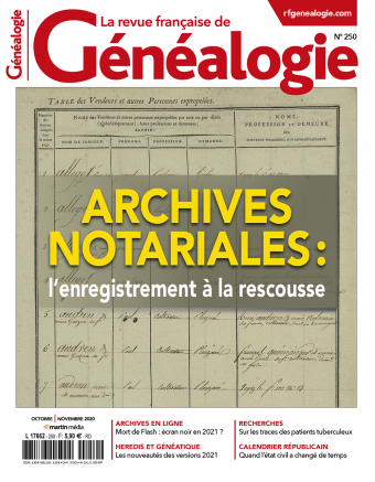 Magazine N°250 Octobre   Novembre 2020 : Enregistrement, archives