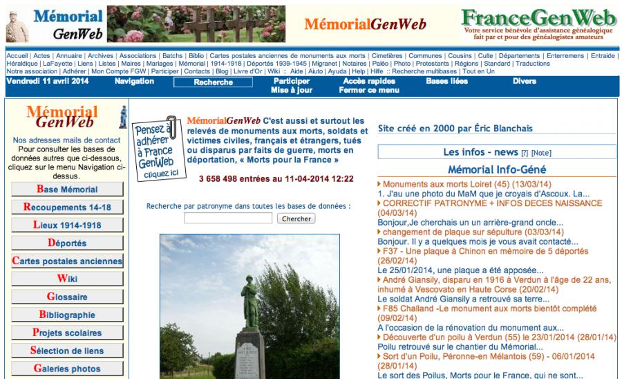 Memorialgenweb Recoit Le Label Centenaire 1914 1918